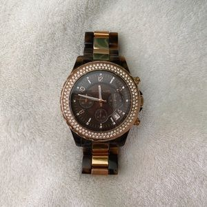 Michael Kors Rose Gold Tortoise Watch